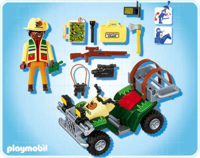 Playmobil 4176 - Explorer Quad - Back