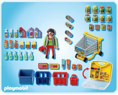 Playmobil 4178 - Shopper Carrying Case - Back
