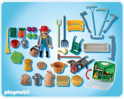 Playmobil 4179 - Farmer Carrying Case - Back