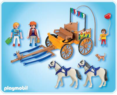 Playmobil 4186 - Horse wagon - Back