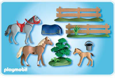 Playmobil set 4188 horses with foal klickypedia for Playmobil pferde set