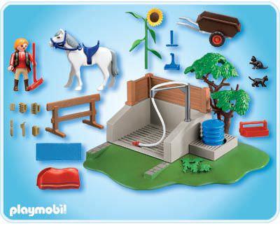 Playmobil set 4193 horse washing station klickypedia for Playmobil pferde set