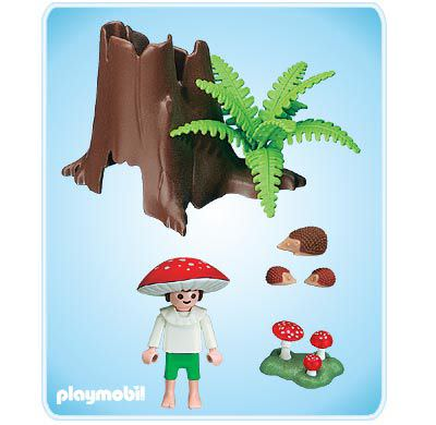 Playmobil 4194 - Tree Stump with Fairy - Back