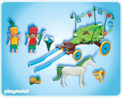 Playmobil 4195 - Carriage with Unicorn - Back