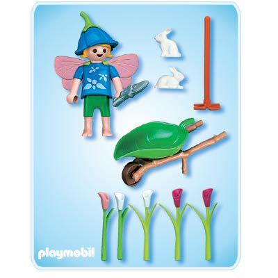 Playmobil 4196 - Flower Wheelbarrow - Back