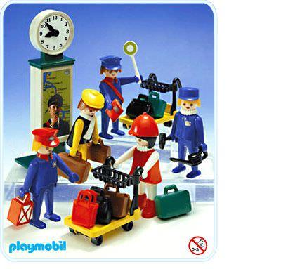 Playmobil set 4200v1 train travellers klickypedia - Train playmobil ...