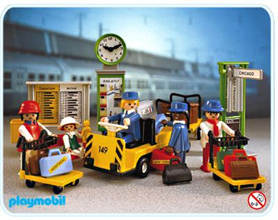 Playmobil set 4202v1 train travellers klickypedia - Train playmobil ...
