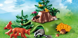 Playmobil - 4204 - Forest Animals with Cave