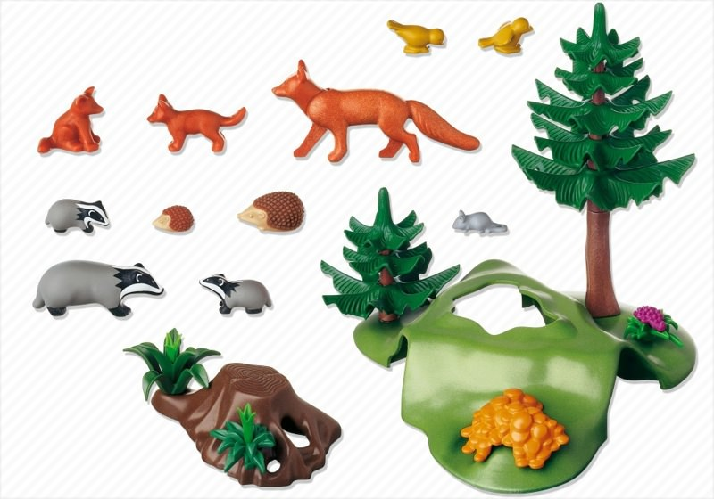 Playmobil 4204 - Forest Animals with Cave - Back