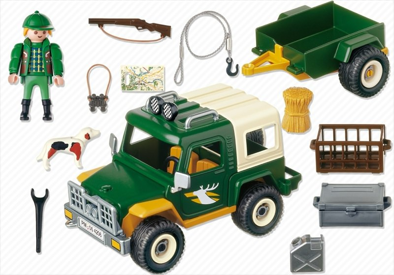 Playmobil 4206 - Forest Truck - Back