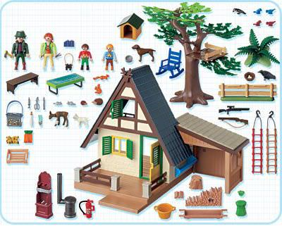 Playmobil 4207 - Forest Lodge - Back