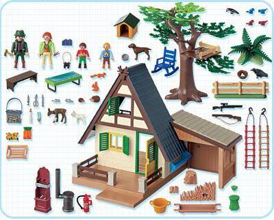 Playmobil 4207 - Forsthaus mit Tierpflegestation - Zurück