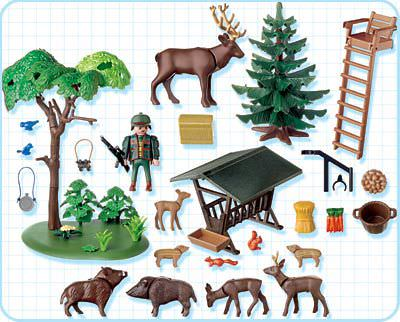 Playmobil 4208 - Ranger's Post - Back