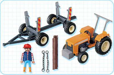 Playmobil 4209 - Logger's Tractor - Back