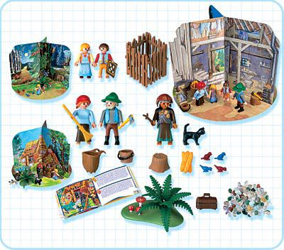 Playmobil 4212 - Hansel and Gretel Fairy Tale Set - Back