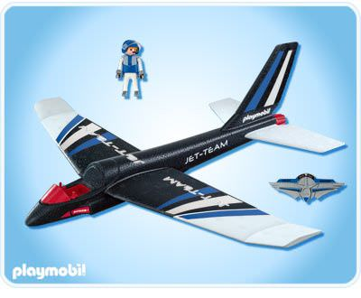 Playmobil 4215 - Hand-Launch Glider Jet Team - Back