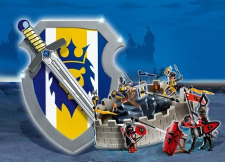 Playmobil - 4217 - Lion Knights Take-Along Castle with Shield and Sword