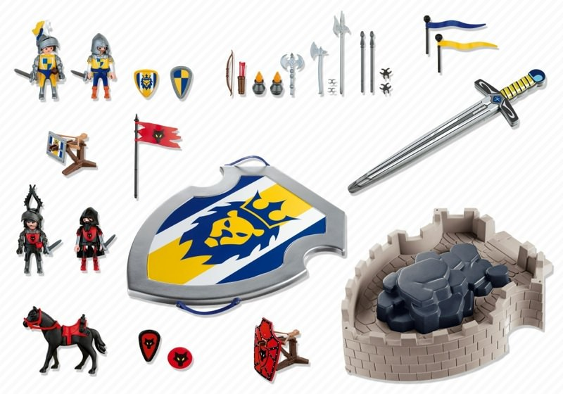Playmobil 4217 - Lion Knights Take-Along Castle with Shield and Sword - Back