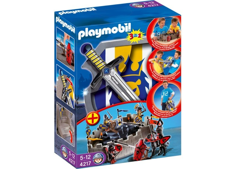 Playmobil 4217 - Lion Knights Take-Along Castle with Shield and Sword - Box