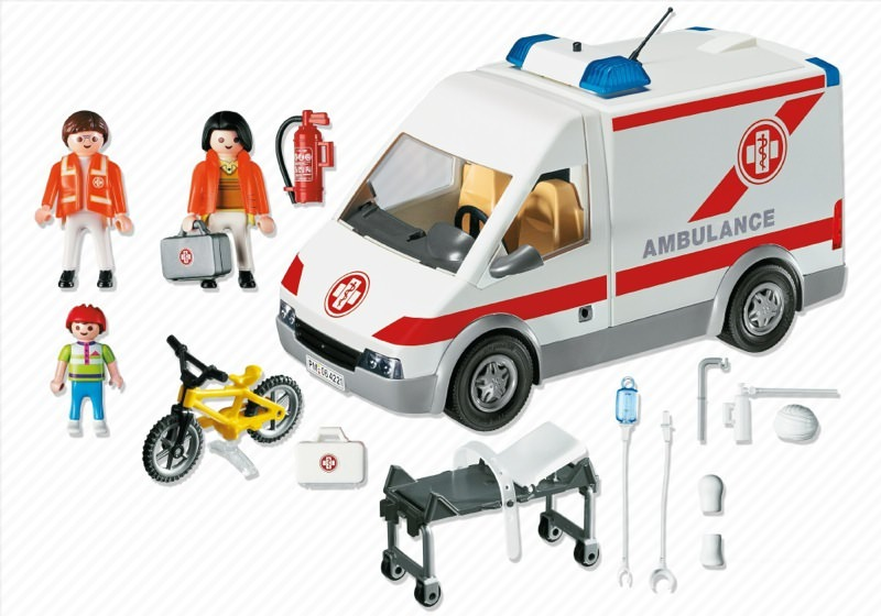 Playmobil 4221 - Ambulance - Back