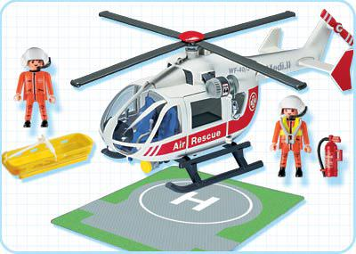 Playmobil 4222 - Medical 'Copter - Back