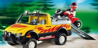 Playmobil - 4228 - Pick-Up con Quad de carreras