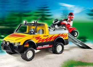 Playmobil - 4228 - Pick-Up Truck with Quad Bike