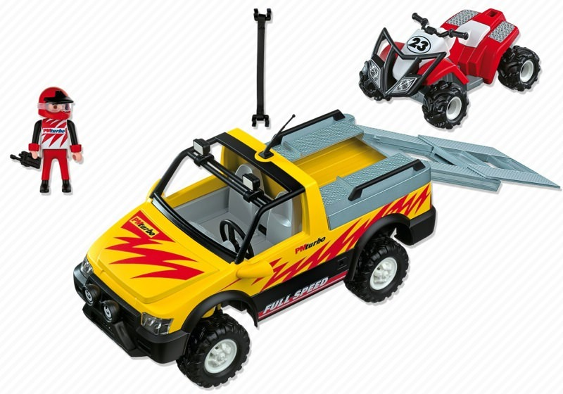 Playmobil 4228 - Pick-Up Truck with Quad Bike - Back