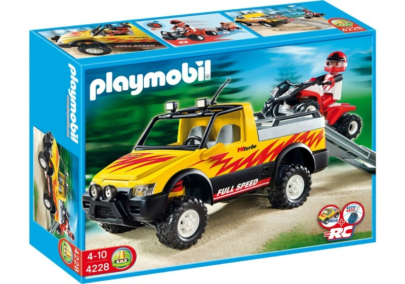 Playmobil 4228 - Pick-Up Truck with Quad Bike - Box
