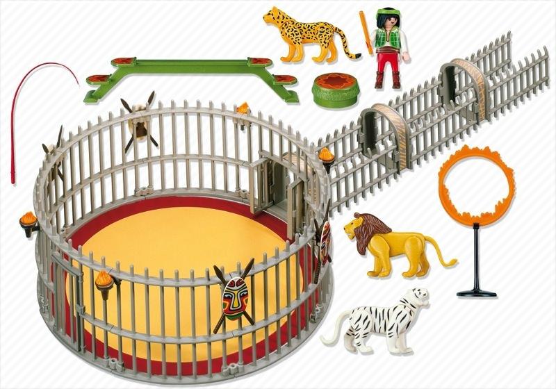 Playmobil 4233 - Wild animals trainer - Back