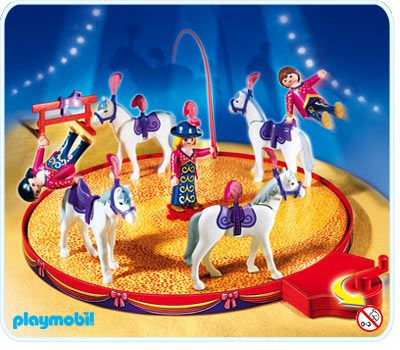 Playmobil set 4234 flyers with horses riding school for Playmobil pferde set