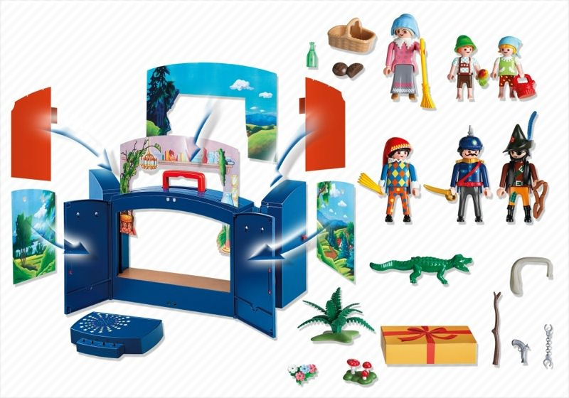 Playmobil 4239 - My Take Along Puppet Theater - Back
