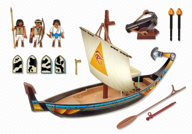 Playmobil 4241 - Royal Ship of Egypt - Back