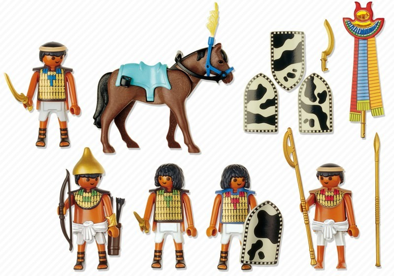 Playmobil 4245 - Egyptian Soldiers - Back