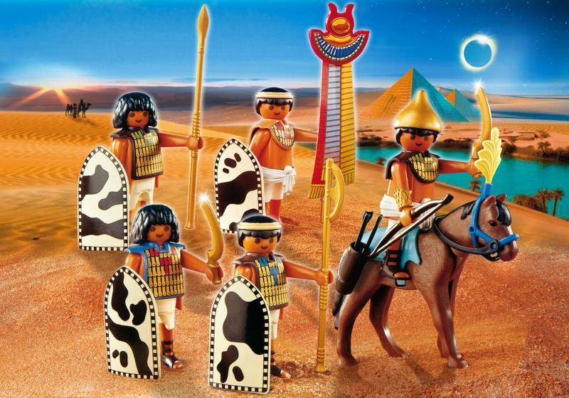 Playmobil set 4245 egyptian soldiers klickypedia - Playmobil egyptien ...