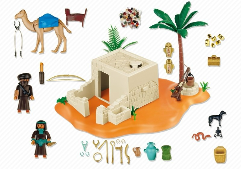 Playmobil 4246 - Tomb with Treasure - Back