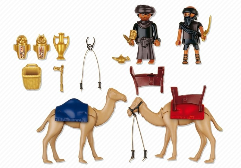 Playmobil 4247 - Two Robbers with Camels - Back