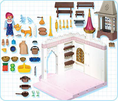 Playmobil set 4251 royal kitchen klickypedia for Kitchen set royal