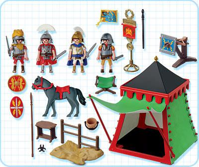 Playmobil 4273 - Commander's Tent - Back