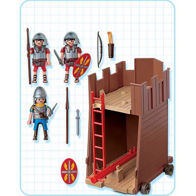 Playmobil 4275 - Battle Tower - Back