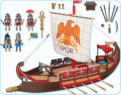 Playmobil 4276 - Warrior's Ship - Back