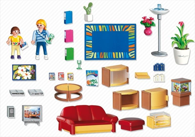 Playmobil 4282 - Living Room - Back