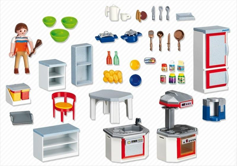 Playmobil set 4283 kitchen with dinnette set klickypedia for Kitchen set rate