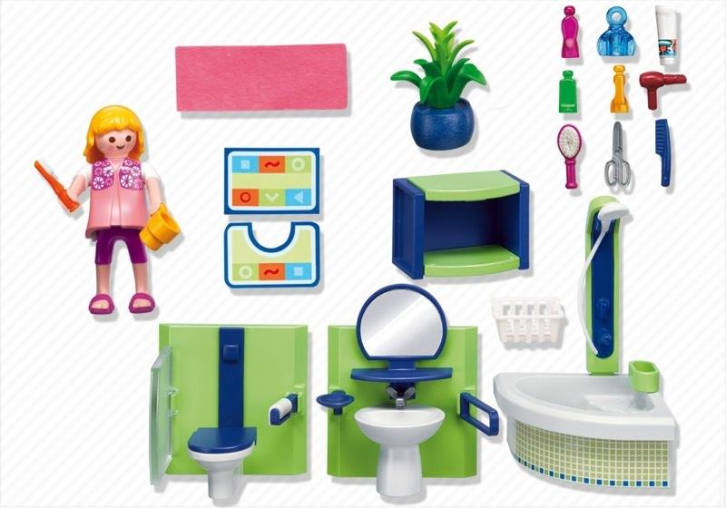 Playmobil 4285 - Family Bathroom - Back