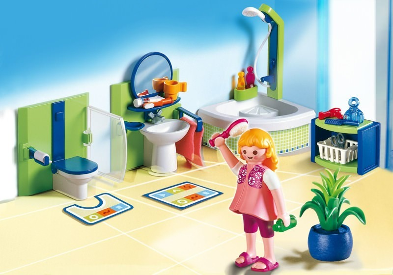 Playmobil set 4285 family bathroom klickypedia for Salle bain playmobil