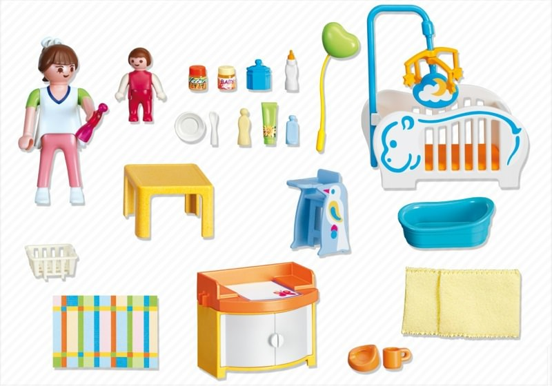 Playmobil 4286 - Baby Room - Back