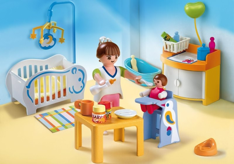 Playmobil set 4286 baby room klickypedia for Chambre playmobil
