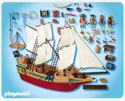 Playmobil Set 4290 Large Pirate Stealth Ship Klickypedia