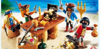 Playmobil - 4292 - Pirate gang with booty treasure