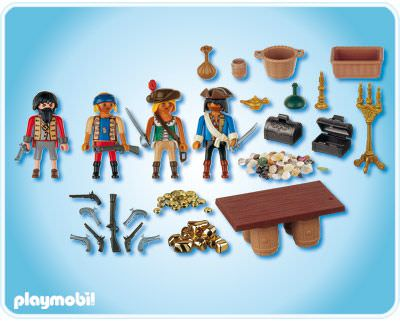 Playmobil 4292 - Pirate gang with booty treasure - Back